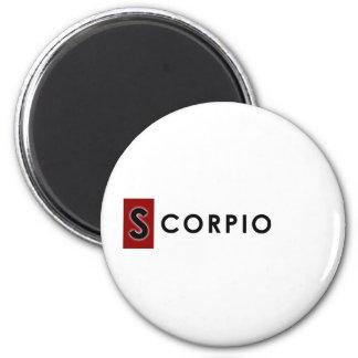 SCORPIO COLOR 2 INCH ROUND MAGNET