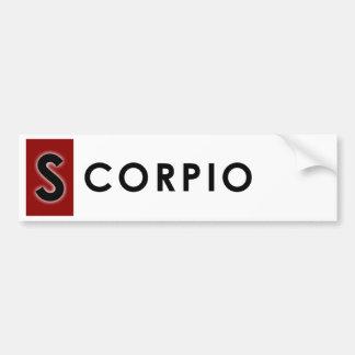 SCORPIO COLOR BUMPER STICKER