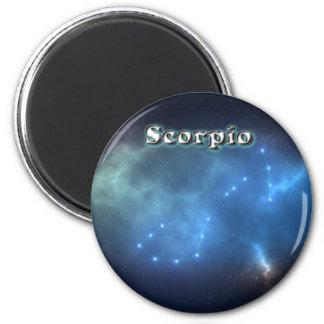 Scorpio constellation 2 inch round magnet