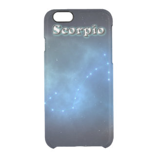 Scorpio constellation clear iPhone 6/6S case