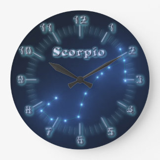 Scorpio constellation large clock