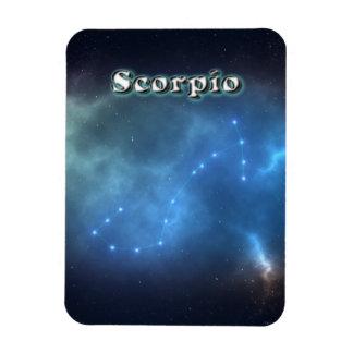 Scorpio constellation rectangular photo magnet