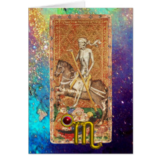 SCORPIO, DEATH,TAROT ASTROLOGY ZODIAC BIRTHDAY CARD