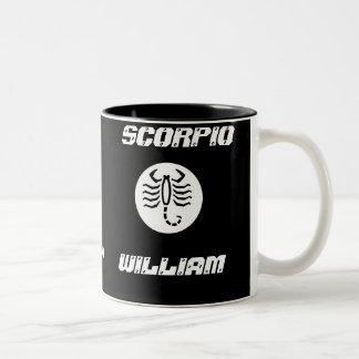 Scorpio Father's Day Mug-Customize Two-Tone Coffee Mug