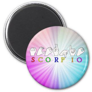 SCORPIO FINGERSPELLED ASL NAME ZODIAC SIGN MAGNET