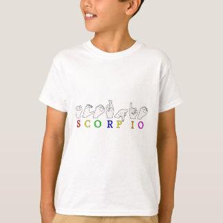 SCORPIO FINGERSPELLED ASL NAME ZODIAC SIGN T-Shirt