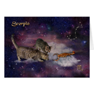 Scorpio for Cat Lovers Card