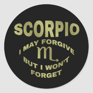 Scorpio Forgive Won't Forget Stickers