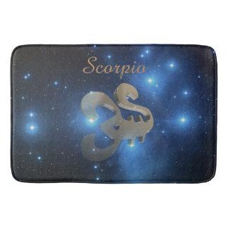 Scorpio golden sign bathroom mat