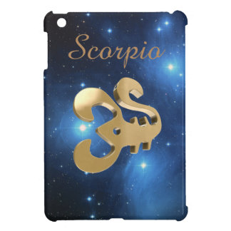 Scorpio golden sign iPad mini cover