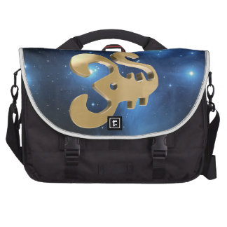 Scorpio golden sign laptop messenger bag