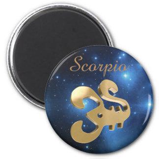 Scorpio golden sign magnet