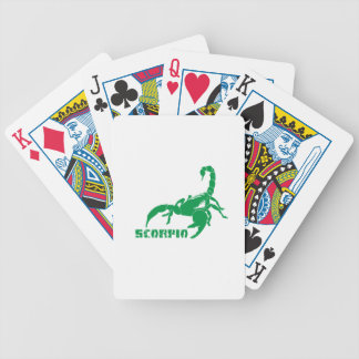 Scorpio - Green Bicycle Playing Cards