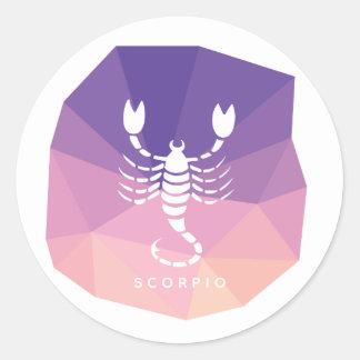 Scorpio horoscope sign modern sticker. classic round sticker