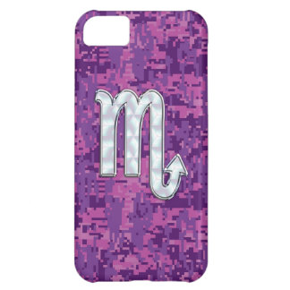 Scorpio Horoscope Sign on Pink Digital Camo Case For iPhone 5C