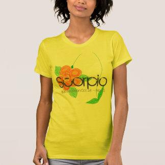 Scorpio Horoscope T-shirt November Birthday Yellow