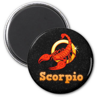 Scorpio illustration 2 inch round magnet