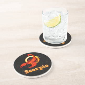 Scorpio illustration coaster