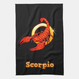 Scorpio illustration kitchen towel