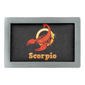 Scorpio illustration rectangular belt buckle