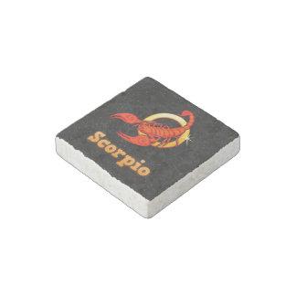 Scorpio illustration stone magnets