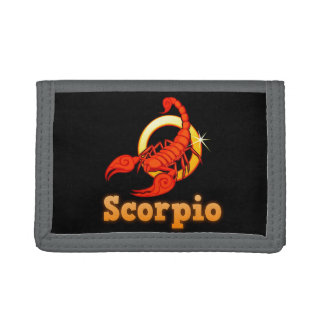 Scorpio illustration tri-fold wallet