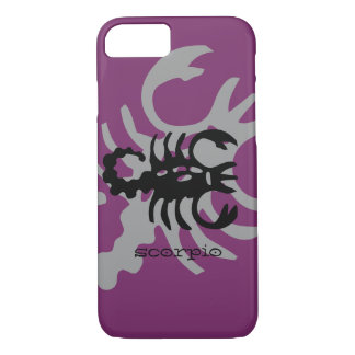 Scorpio in black iPhone 7 case