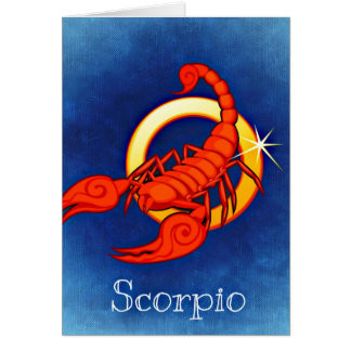 Scorpio in Blue Card