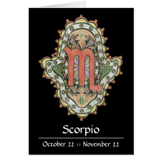 Scorpio Khamsa Note Card