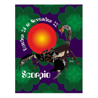 Scorpio October 24 tons November 22 Postcards