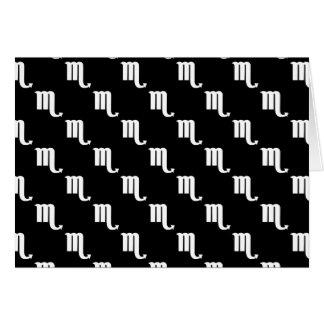 Scorpio Pattern Black and White Card