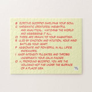 SCORPIO poem puzzle