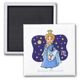 Scorpio Princess Square Magnet