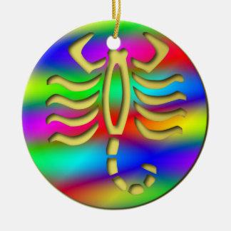 Scorpio Rainbow Scorpion Birthday Christmas Tree Ceramic Ornament