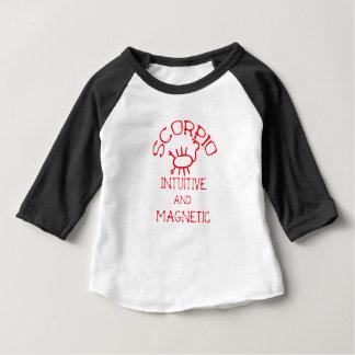 Scorpio (Red Text) Baby T-Shirt