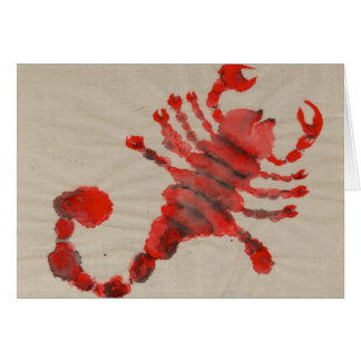 Scorpio Red Zodiac Symbol Birthday Card