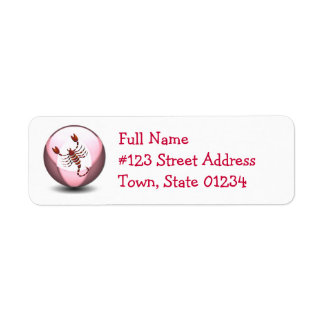 Scorpio Return Address Label