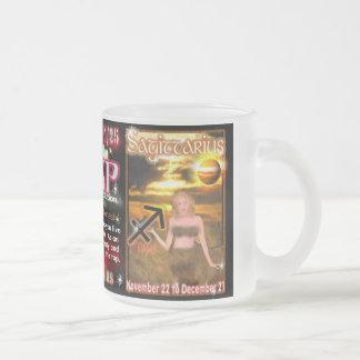 Scorpio Sagittarius cusp small glass Frosted Glass Coffee Mug