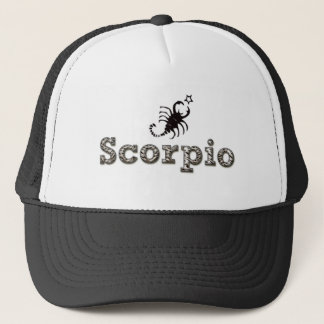 scorpio, sco trucker hat
