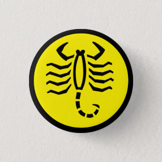 Scorpio Scorpion Horoscope Sign Zodiac Button