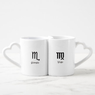 Scorpio Scorpion & Virgo Virgin Zodiacs Astrology Coffee Mug Set