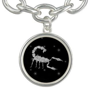 Scorpio Scorpion Zodiac Design Black Bracelet