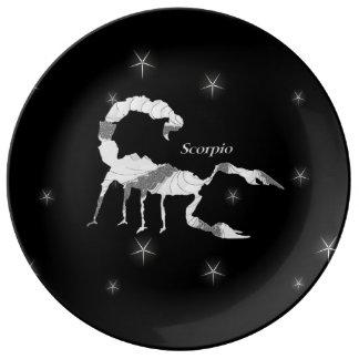 Scorpio Scorpion Zodiac Design Black Plate