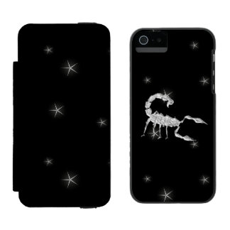 Scorpio Scorpion Zodiac Design Blank Inside Incipio Watson™ iPhone 5 Wallet Case