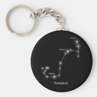 Scorpio Scorpius Constellation Keychain
