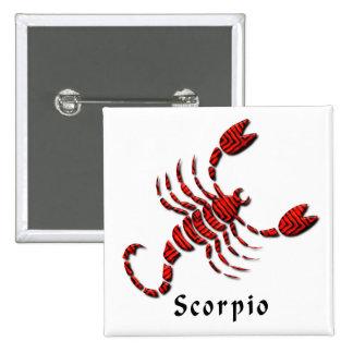 Scorpio Sign Square Pin