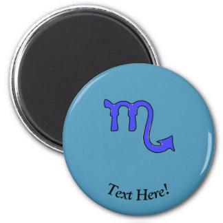 Scorpio symbol 2 inch round magnet
