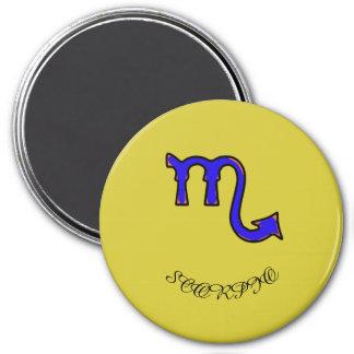 Scorpio symbol 3 inch round magnet