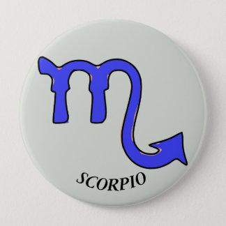 Scorpio symbol 4 inch round button