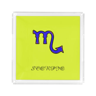 Scorpio symbol acrylic tray